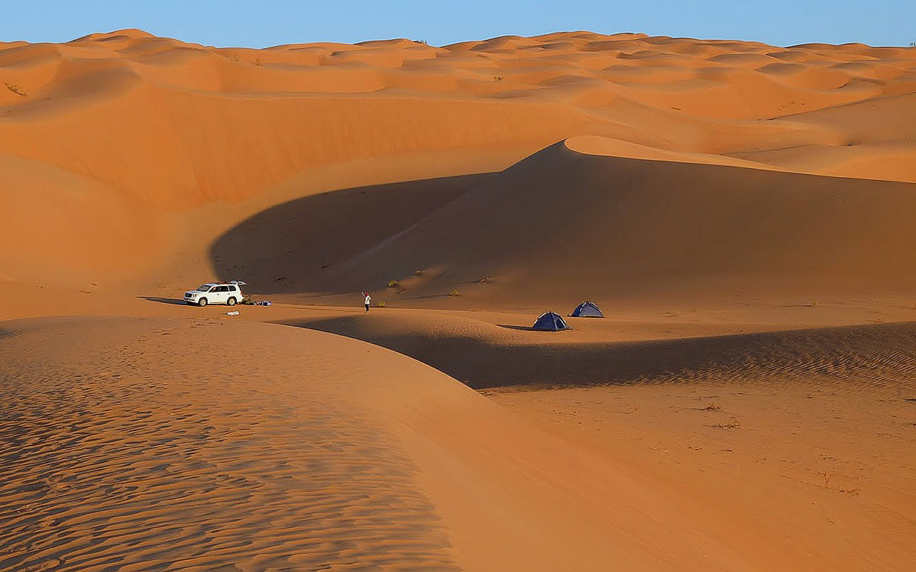 Our campsite in The Empty Quarter