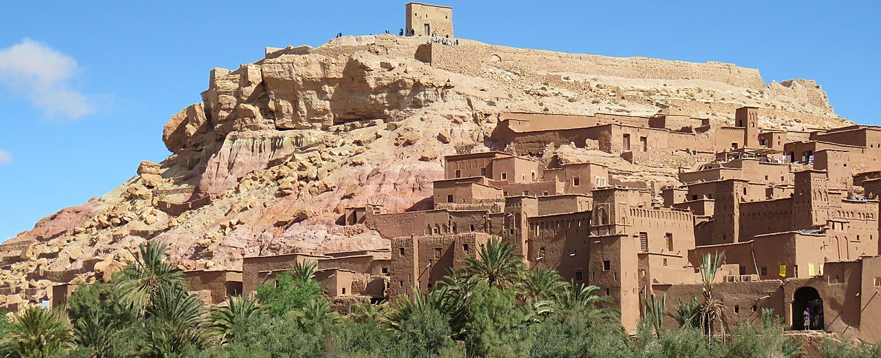 Ait Benhaddou, one of the fortified villages we visit along the former caravan route between the Sahara and Marrakech.