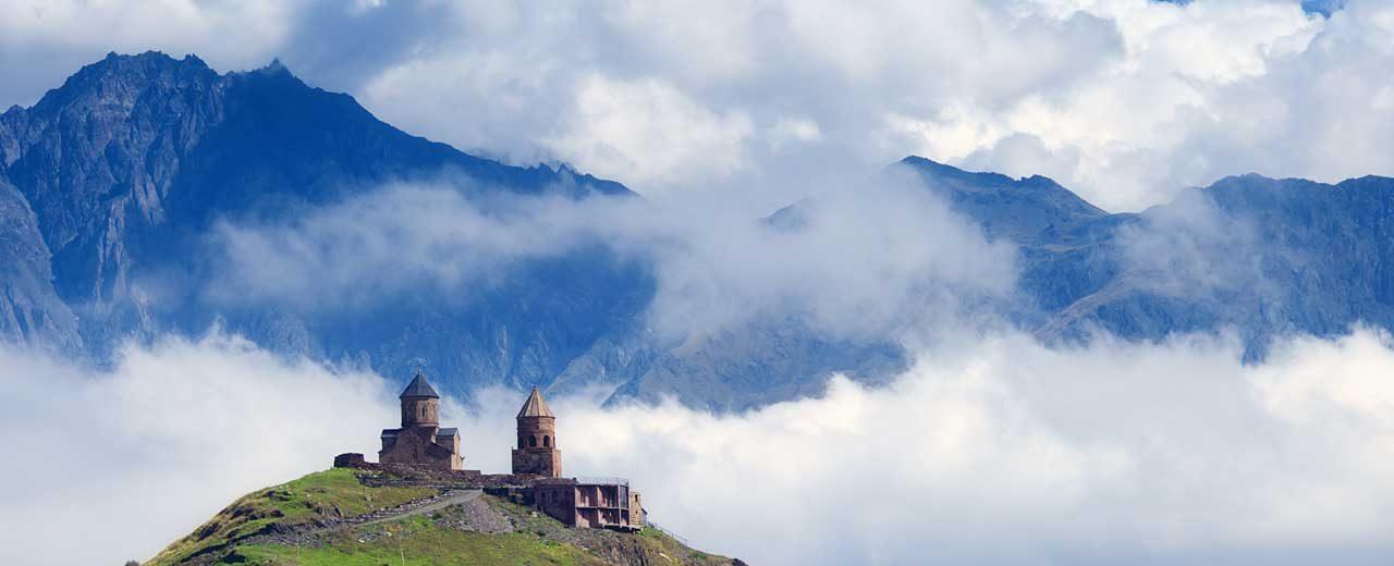 Gergeti Trinity Church near Mount Kazbek