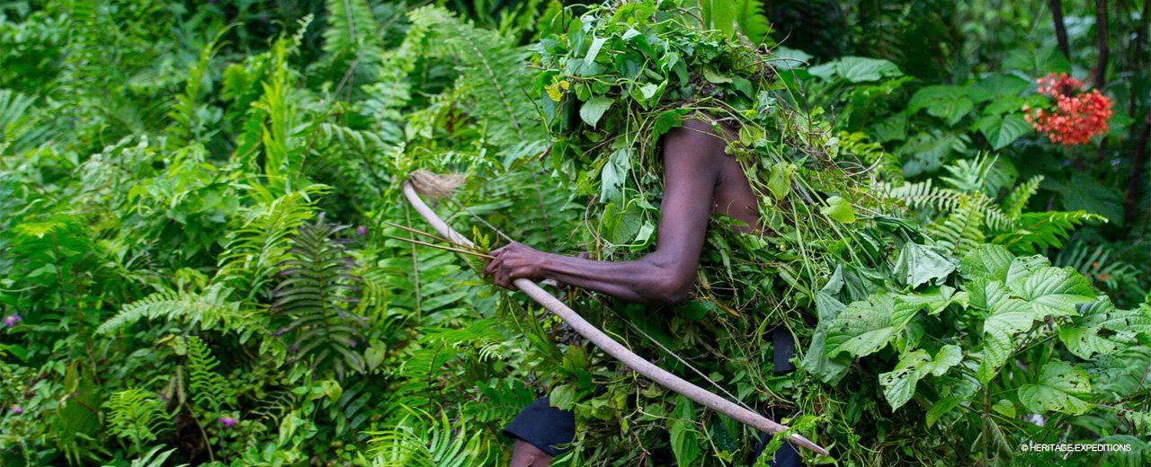 Melanesian Archer camouflaged